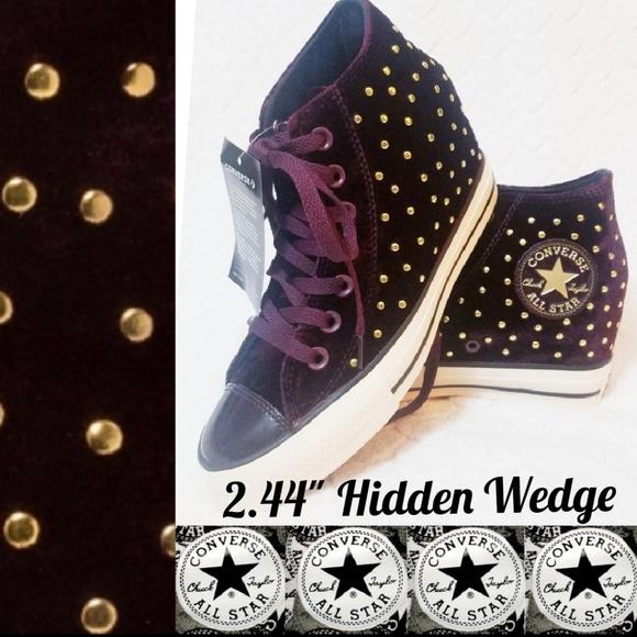 Converse Shoes Velvet Lux Studded Wedge Poshmark